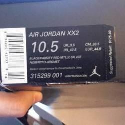 Air jordan bred xx2 sz.10.5