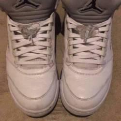 Jordan 5 white metallic