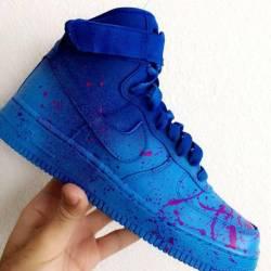 Custom blueberry hightop air f...