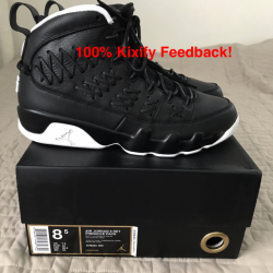 Air jordan 9 black baseball gl...