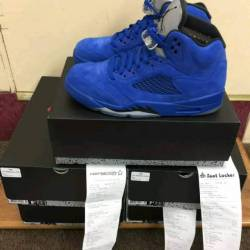 Air jordan 5 blue suede (mens)