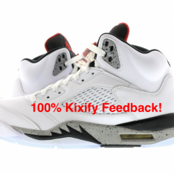 Air jordan 5 white cement free...