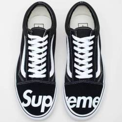 Supreme vans black white old s...