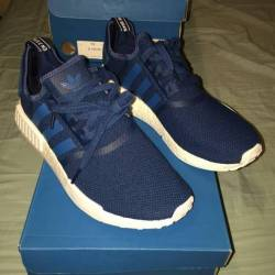 New adidas nmd r1 blue white 1...
