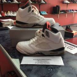 Air jordan 5 white cement 1360...
