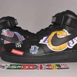Nike air force 1 mid supreme b...