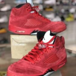 Nike air jordan retro 5 v red ...
