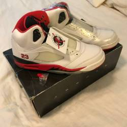 Air jordan 5 - fire red (black...