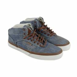Vans mens blue textile sneaker...