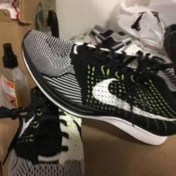 Nike air flyknit racer black w...