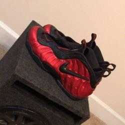 Nike foamposites metallic red