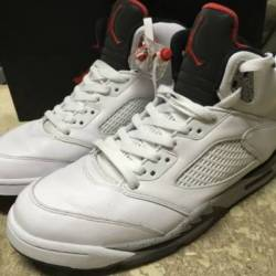 Used mens nike air jordan v 5 ...