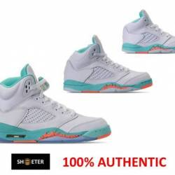 Air jordan 5 retro light aqua ...