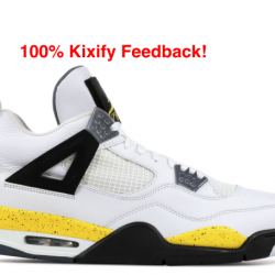 Air jordan 4 tour yellow light...