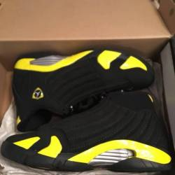premium selection 35e2f ac604 wholesale air jordan retro 14 thunder for vendita online ...