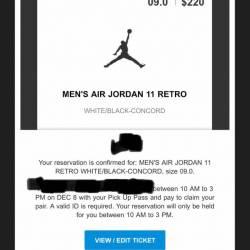 Air jordan 11 concord 2018