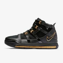 Nike zoom lebron 3 black metal...