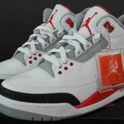 Air jordan 3 retro - fire red