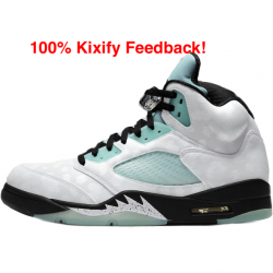 Air jordan 5 island green sing...