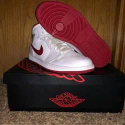 Jordan 1 retro white/gym red