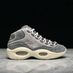 Reebok question mid grey suede...