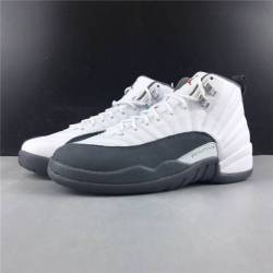 Air jordan 12 white dark grey