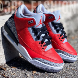 Air jordan 3 red cement gs