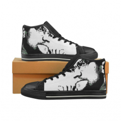 Malcolm x inspired high top shoes