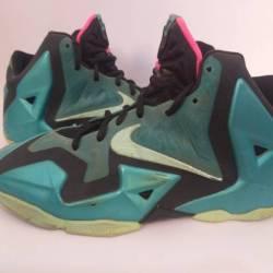 Nike mens size 7y teal lebron ...