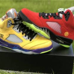 Air jordan 5 what the red yell...