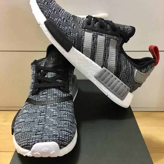 bae4afc4c8cf6 Adidas NMD R 1 Glitch Camo Core Black Grey Red Men 9 US