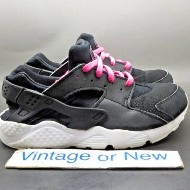 Rápido imagen Túnica  Girls Nike Air Huarache Run Black Pink Blast GS Preschool 704951-007 sz 2Y  | Kixify Marketplace