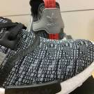 Adidas NMD R_1 Glitch Camo Core Black Grey Red Men 9 US