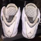 Jordan XX1 (21) - White/Silver Metallic - Black - Size 12