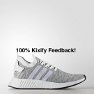Adidas NMD R2 White Red FREE SHIPPING