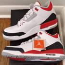"DS 2013 Nike Air Jordan 3 Retro ""Fire Red"", Sz 11, New"